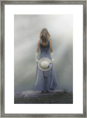 Girl With Sun Hat Framed Print by Joana Kruse