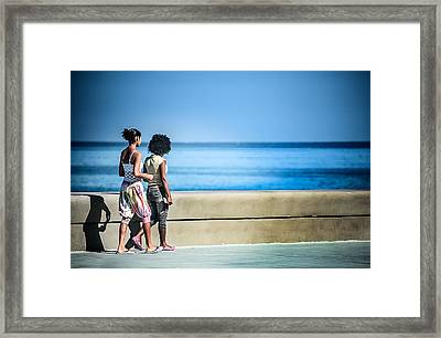 2 Girls On The Malecon Framed Print