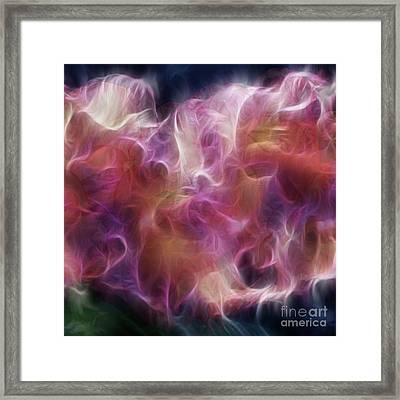 Gladiola Nebula Triptych Panel 2 Framed Print