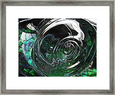 Glass Abstract 416 Framed Print