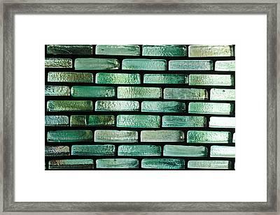 Glass Bricks Framed Print