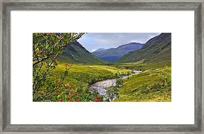 Glen Etive Scotland Framed Print by Jane McIlroy
