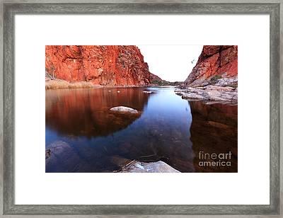 Glen Helen Gorge Framed Print