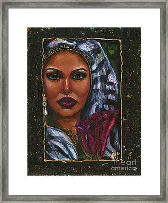 Framed Print featuring the painting Glorious by Alga Washington