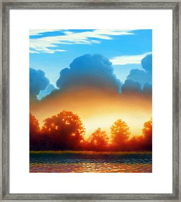 Glowing Framed Print by Kevin Lawrence Leveque