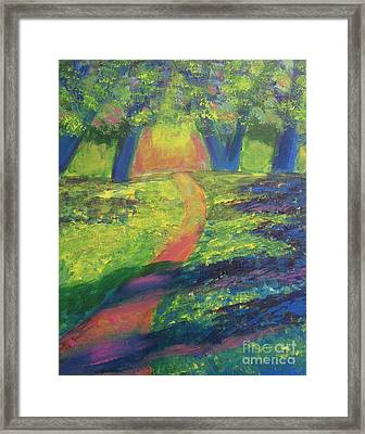 Glowing Path Framed Print by Diana Riukas