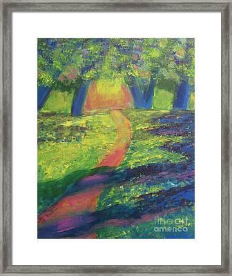 Glowing Path Framed Print