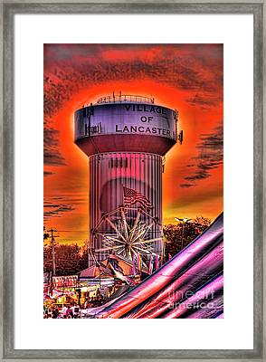Framed Print featuring the photograph Glowing Water Tower by Jim Lepard