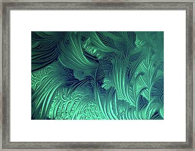 Glycine Crystals Framed Print