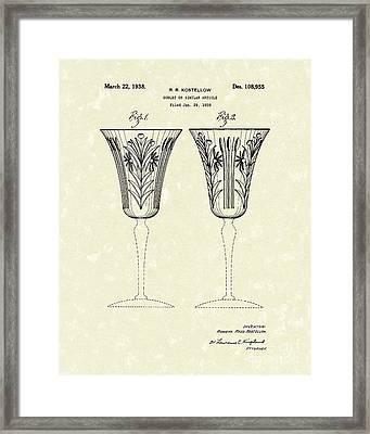 Goblet 1938 Patent Art Framed Print