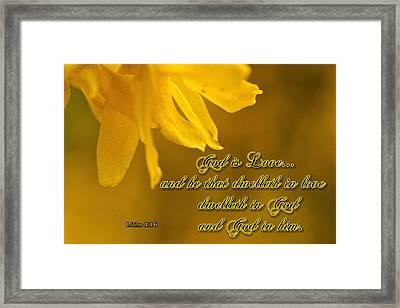 God Is Love Framed Print by Larry Bishop