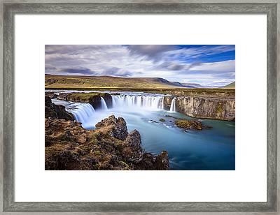 Godafoss Waterfall Framed Print