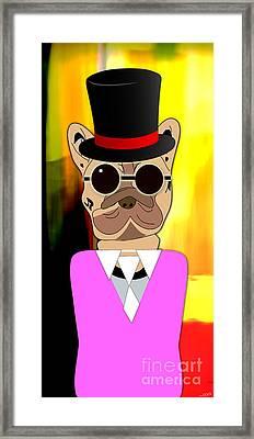 Going Somewhere Mr French Bulldog Framed Print