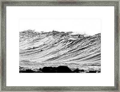 Gold Nugget Bw Framed Print by Sean Davey