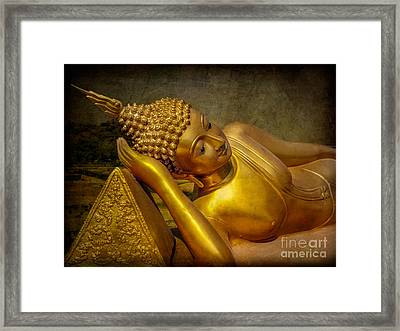 Golden Buddha Framed Print by Adrian Evans
