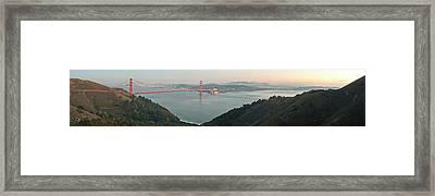 Golden Gate Bridge Across The Bay Framed Print