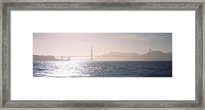 Golden Gate Bridge California Usa Framed Print by Panoramic Images