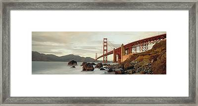 Golden Gate Bridge San Francisco Ca Usa Framed Print by Panoramic Images