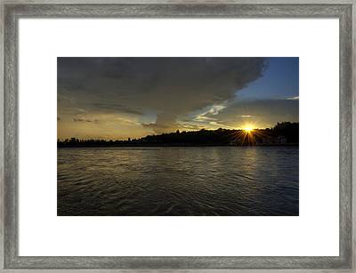 Golden Hour - Rishikesh Framed Print by Rohit Chawla