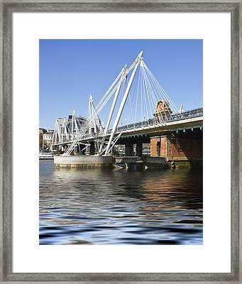 Golden Jubilee Bridges London Framed Print