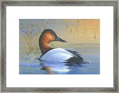Framed Print featuring the painting Golden Reflections by Mike Brown