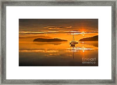 Golden  Sunrise Framed Print