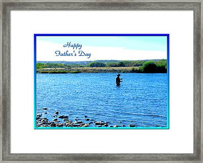 Gone Fishing Framed Print by Joyce Dickens