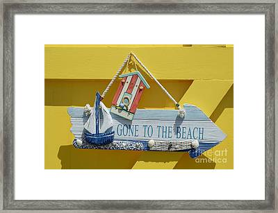 Gone To The Beach Framed Print