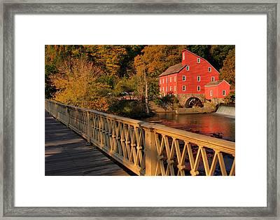 Good Morning Red Mill Framed Print
