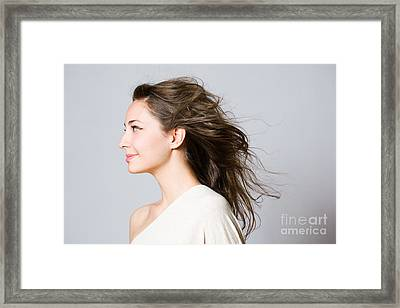 Gorgeous Young Brunette Woman. Framed Print by Alstair Thane