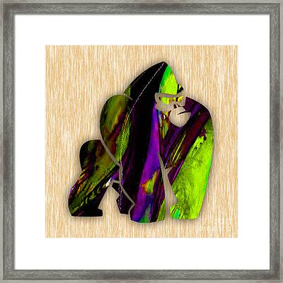 Gorilla Painting Framed Print by Marvin Blaine