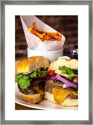 Gourmet Pub Hamburger Framed Print