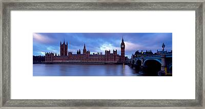Government Building At The Waterfront Framed Print