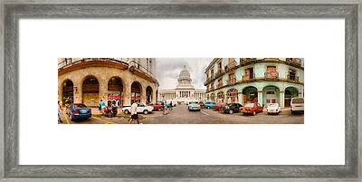 Government Building In A City, El Framed Print