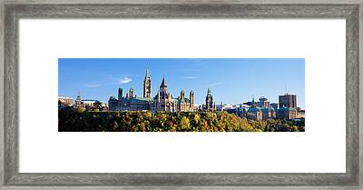 Government Building On A Hill Framed Print