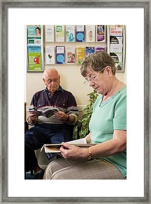 Gp Surgery Waiting Room Framed Print by Jim Varney