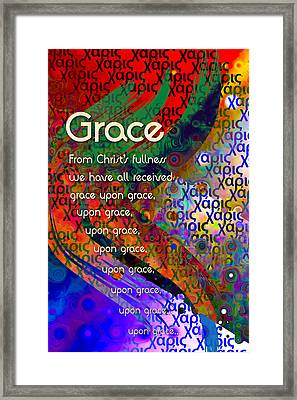 Framed Print featuring the digital art Grace by Chuck Mountain
