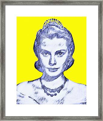 Grace Kelly Framed Print by Art Cinema Gallery