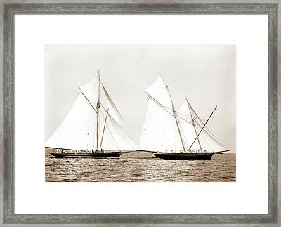 Gracie And Volunteer Foul, Gracie Yacht Framed Print
