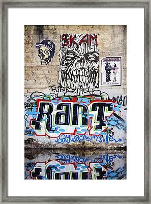 Graffiti Framed Print by Carol Leigh