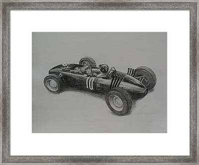 Graham Hill  Brm Framed Print