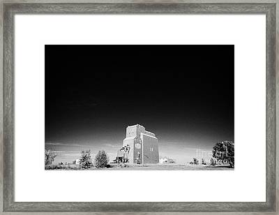 grain elevator landmark bengough Saskatchewan Canada Framed Print