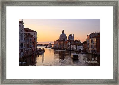 Grand Canal At Sunrise -  Venice - Italy Framed Print by Matteo Colombo