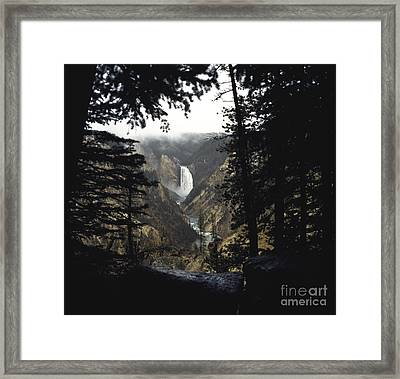 Grand Canyon Of The Yellowstone-signed Framed Print