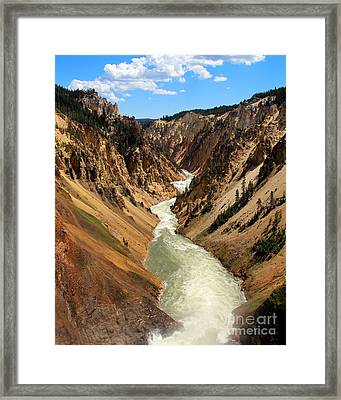 Framed Print featuring the photograph Grand Canyon Of Yellowstone by Jemmy Archer