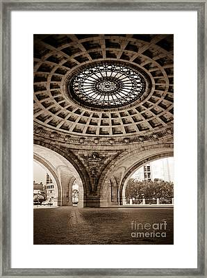 Grand Rotunda Pennsylvanian Pittsburgh Framed Print by Amy Cicconi
