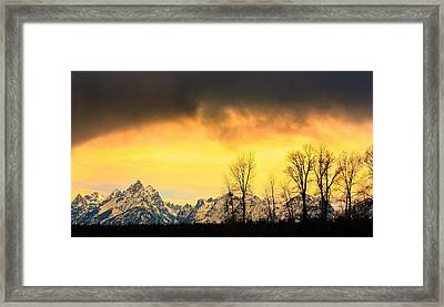Framed Print featuring the photograph Grand Tetons Wyoming by Amanda Stadther