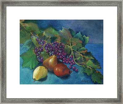 Grapes And Pears Framed Print