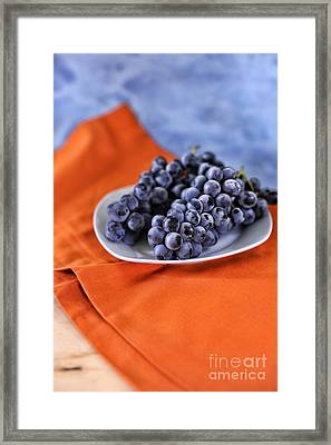 Grapes Framed Print by HD Connelly