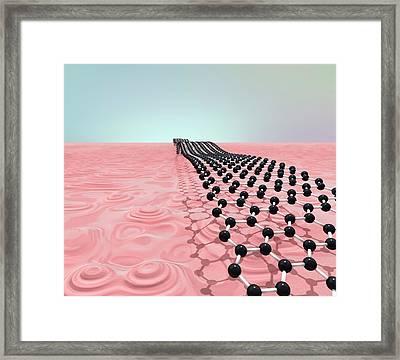 Graphene Nanoribbon Framed Print by Robert Brook